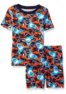 The Children's Place Boys' Top and Shorts Pajama Set Surfer 816