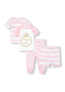 The Children's Place Girls' Baby Top and Bottom Pajama Sets