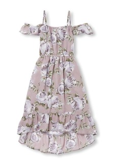 The Children's Place Girls' Big Cold Shoulder Floral Dress