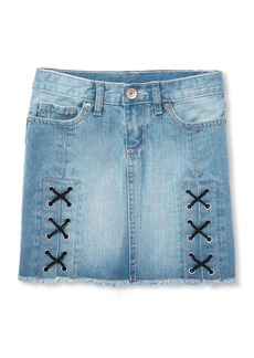 The Children's Place Girls' Big Fashion Denim Skirt Light Blue MSTY wash