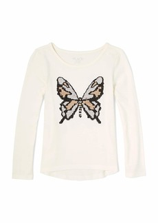 The Children's Place Girls' Big FLIP Sequence HIGH Low TOP  M (7/8)
