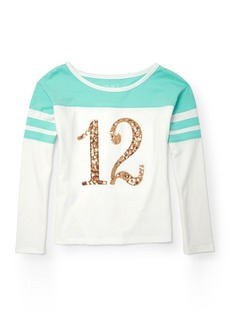 The Children's Place Girls' Big Football Graphic Knit