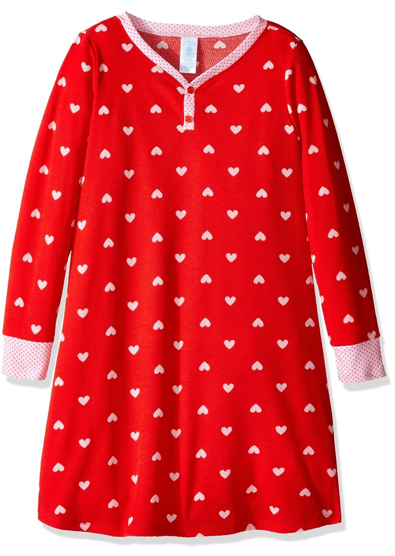 The Children's Place Girls' Big Girls' Printed Heart Nightgown  12