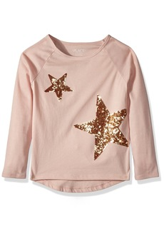 The Children's Place Girls' Big Graphic Long Sleeve Tee Shirt Rose dust 6 88021