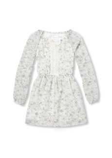 The Children's Place Girls' Big Long Sleeve Floral Dress  XXL(16)