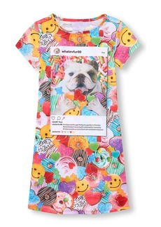 The Children's Place Girls' Big Short Sleeve Graphic Nightgown Multi CLR S (5/6)