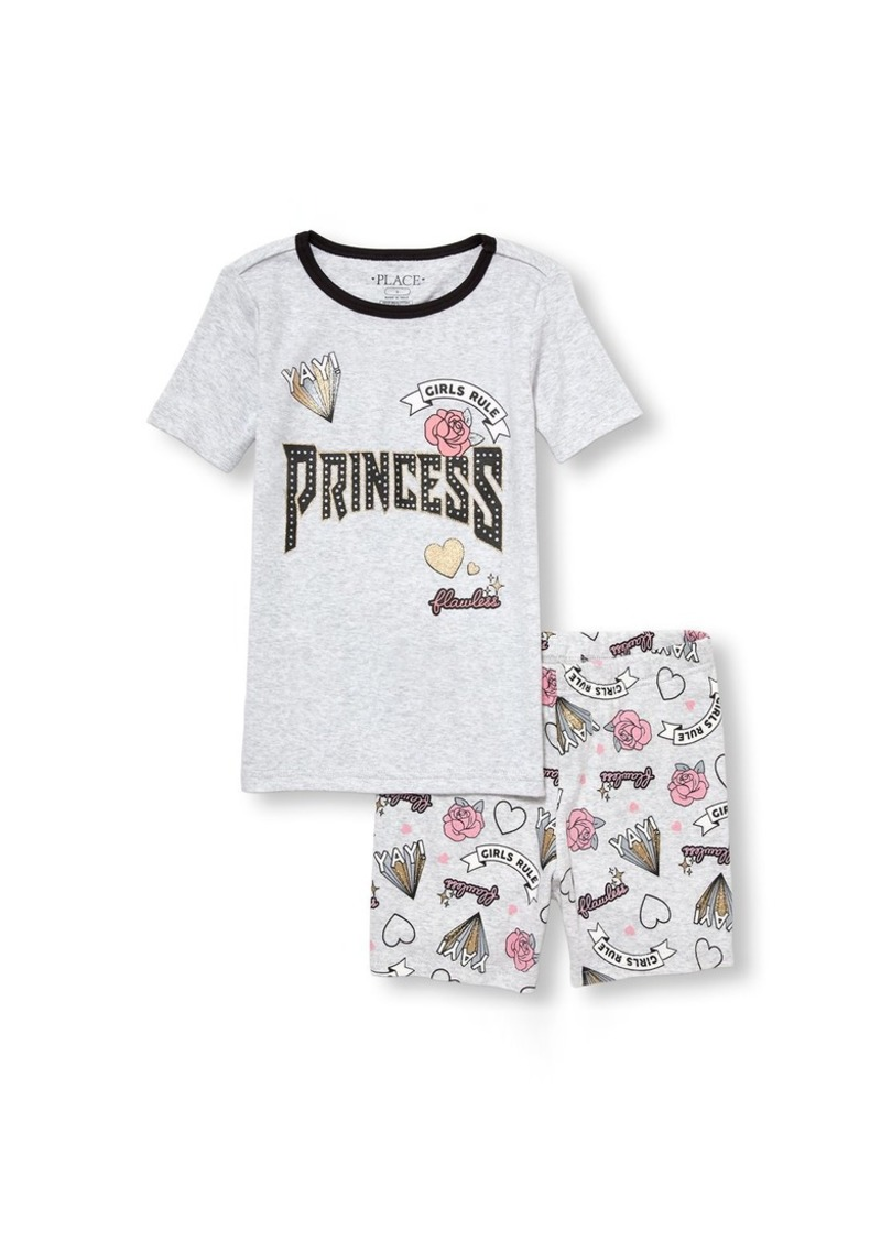 The Children's Place Girls' Big Top and Shorts Pajama Set