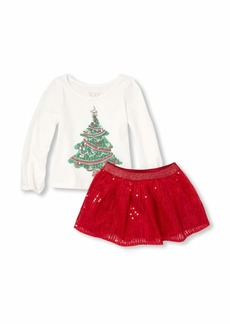 The Children's Place Girls' Toddler Holiday Skirt Set
