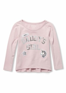 The Children's Place Girls' Toddler Long Sleeve Graphic Shirt