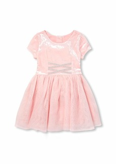 The Children's Place Girls' Toddler Mesh Glitter Dress