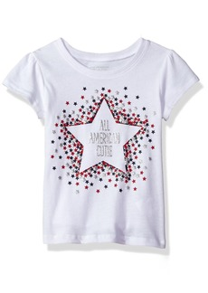 The Children's Place Girls' Toddler Short Sleeve Fashion Graphic Tees
