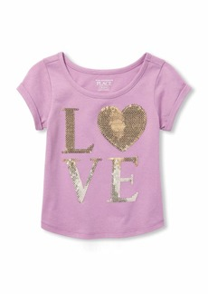 The Children's Place Girls' Toddler Short Sleeve Graphic Tops