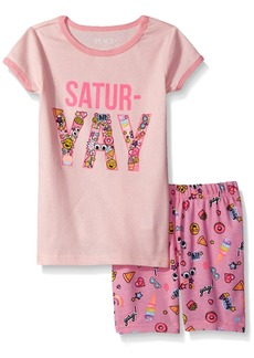 The Children's Place Girls' Toddler Sleeve Top and Short Pajama Set