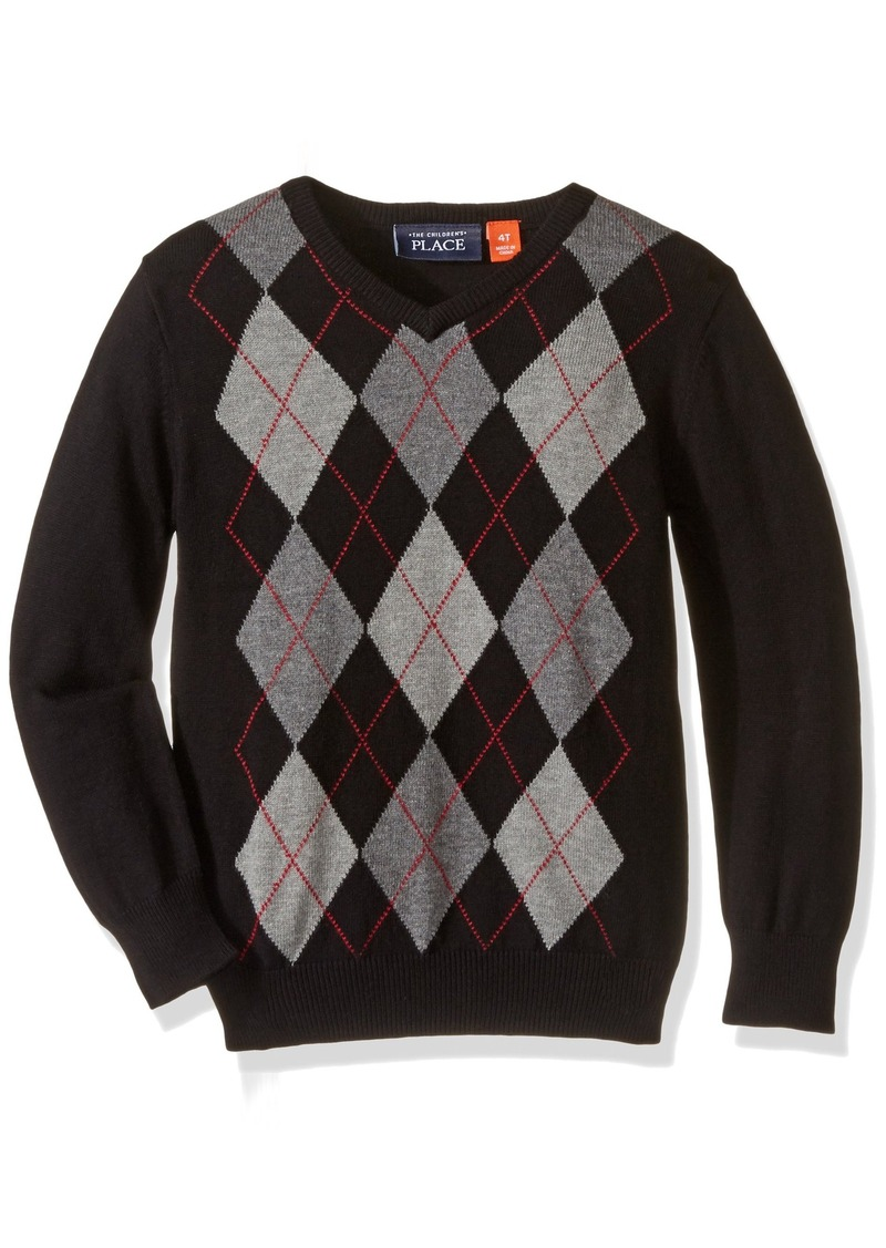 The Children's Place Little Boys and Toddler Argyle V-Neck Sweater