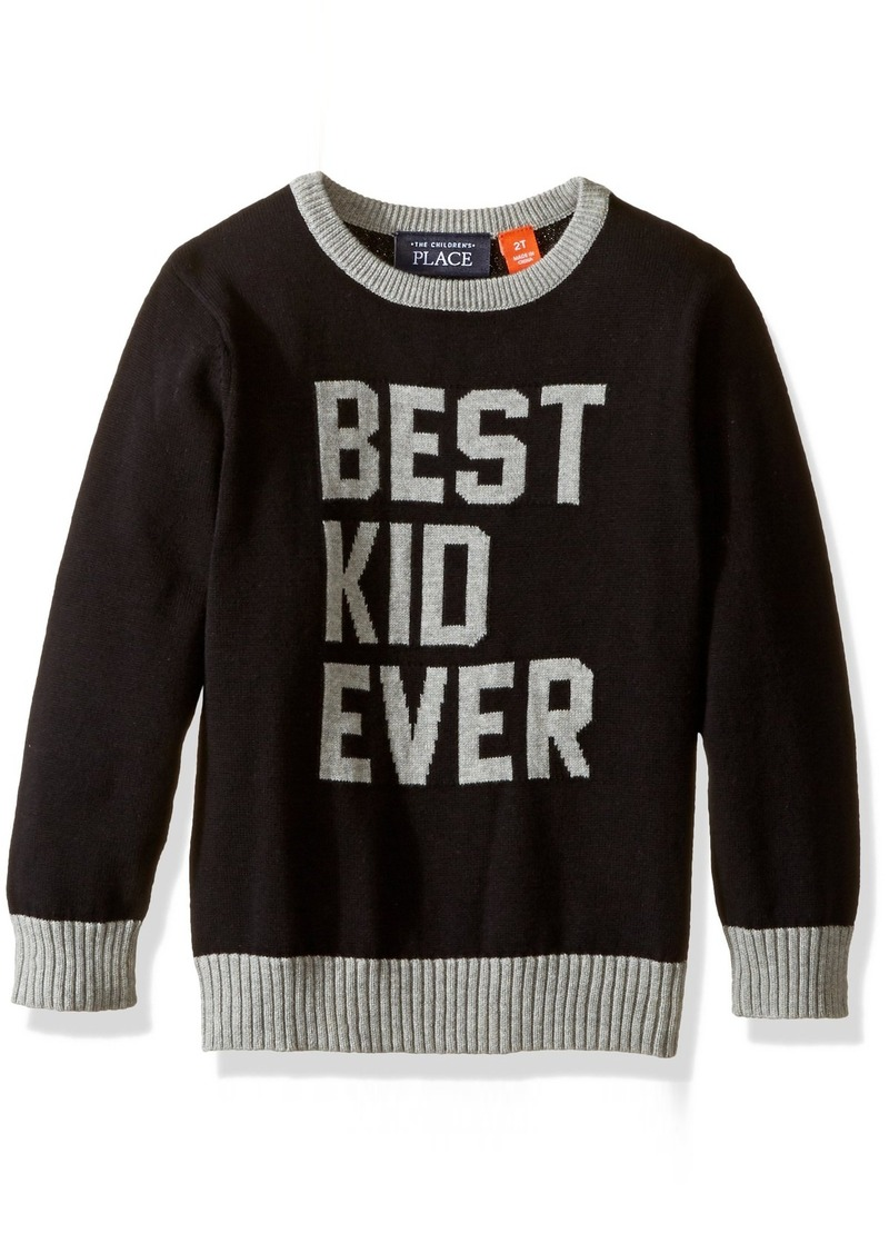 The Children's Place Little Boys and Toddler Colorblocked Intarsia Pullover Sweater