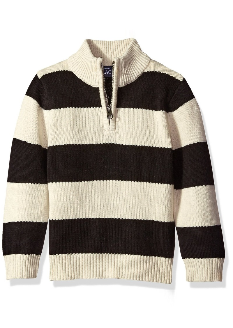 The Children's Place Little Boys and Toddler Striped Zip Neck Sweater