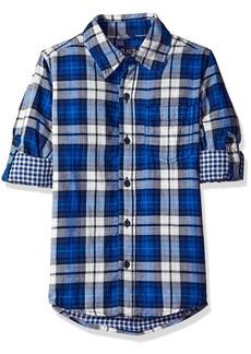 The Children's Place Big Boys' Long Sleeve Plaid Shirt