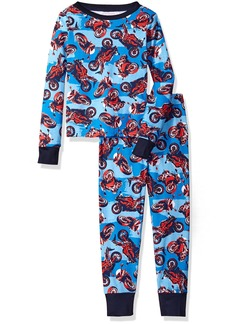 The Children's Place Little Boys' Long Sleeve Top and Pants Pajama Set Motorcycle/Happy Blue 5510