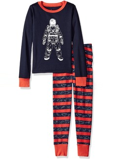 The Children's Place Little Boys' Long Sleeve Top and Pants Pajama Set Spaceman/Tidal 6587