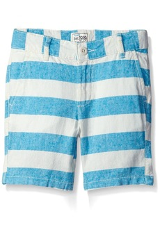 The Children's Place Little Boys' Striped Flat Front Pant