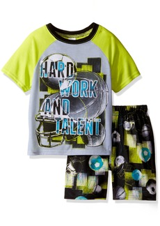 The Children's Place Little Boys' Top and Shorts Pajama Set  XS (4)