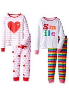 The Children's Place Little Girls' Long Sleeve Top and Pants Pajama Set (Pack of 2) Multicolor 7704 (Pack of 2)