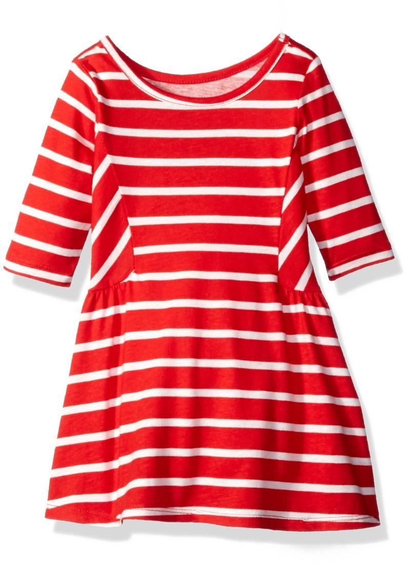 The Children's Place Little Girls and Toddler  3/4 Length Stripe Short Sleeve
