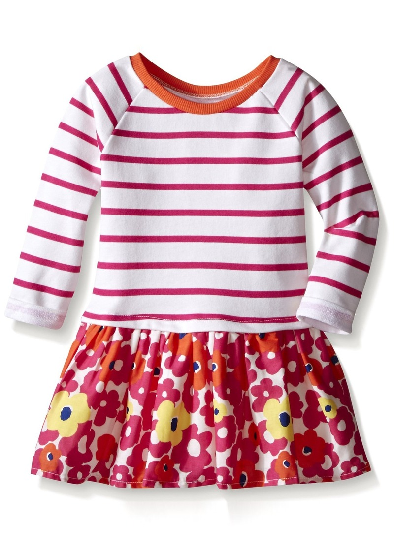 The Children's Place Little Girls and Toddler Knit To Woven Stripe Dress
