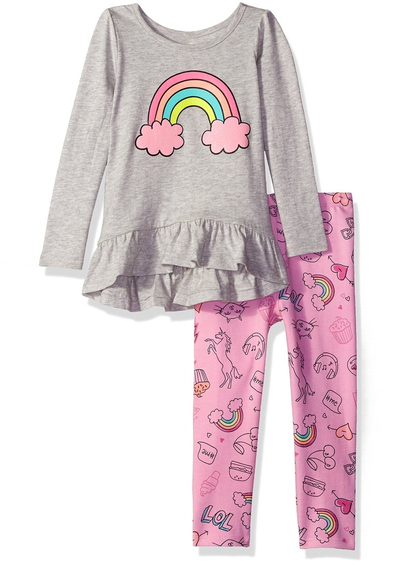 The Children's Place Baby Girls' Toddler Top and Leggings Set