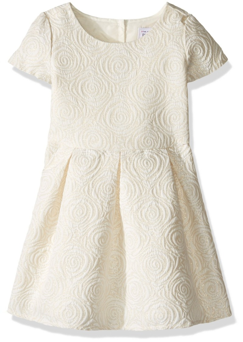 The Children's Place Little Girls and Toddler Metallic Jacquard Dress
