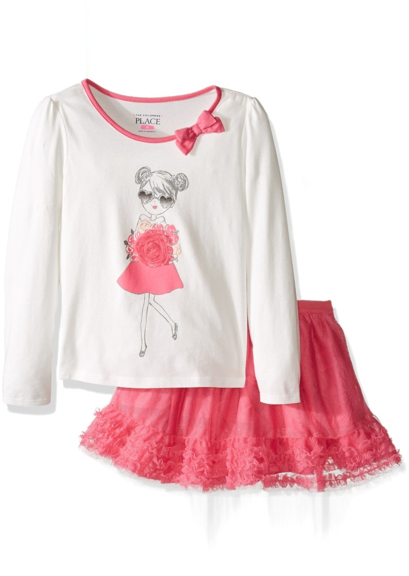 The Children's Place Little Girls and Toddler Skirt Set