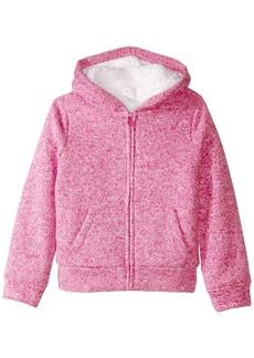 The Children's Place Little Girls' Marled Sherpa Sweater Super Purple
