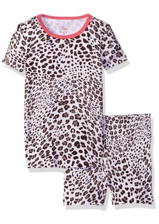 The Children's Place Girls' Little Top and Shorts Pajama Set