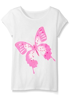The Children's Place Little Girls' Short Sleeve Top Multi Color