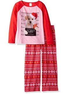 The Children's Place Girls' Little Top and Pants Pajama Set Rhumba red 91797 S (5/6)