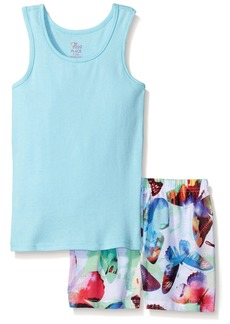 The Children's Place Little Girls' Top and Shorts Pajama Set