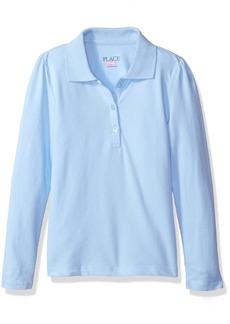 The Children's Place Little Girls' Uniform Long Sleeve Polo