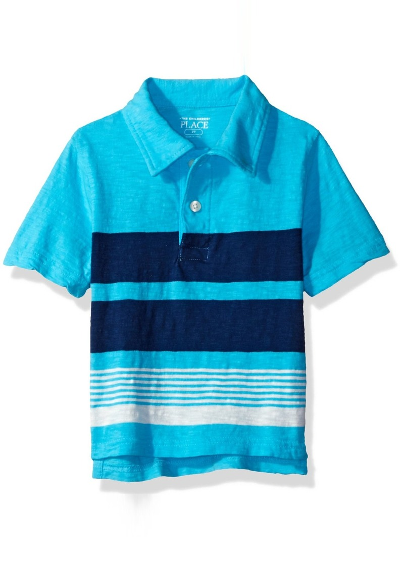 6d07643c94 The Children's Place Toddler Boys' His Li'l Short Sleeve Striped Polo Shirt
