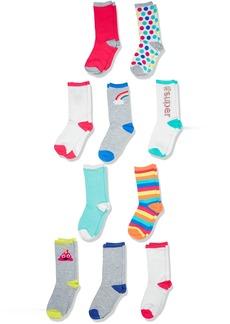 The Children's Place Toddler Girls' Crew Socks (Pack of 10)