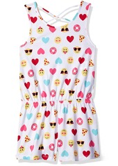 The Children's Place Toddler Girls' Emoji Print Romper  S (5/6)