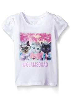 The Children's Place Toddler Girls' Short Sleeve Fashion Graphic Tees