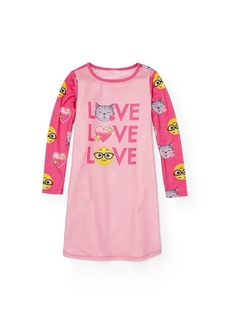 The Children's Place Girls' Toddler Long Sleeve Nightgown Angel kiss 86748 S (5/6)