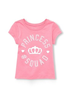 The Children's Place Toddler Girls' Princess Short Sleeve Graphic Tee
