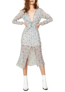 The East Order Serena Floral Print Midi Dress