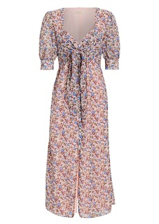 The East Order Sophie Tie Front Midi Dress