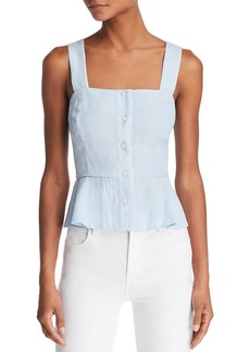 The East Order Farrah Front-Button Cropped Top