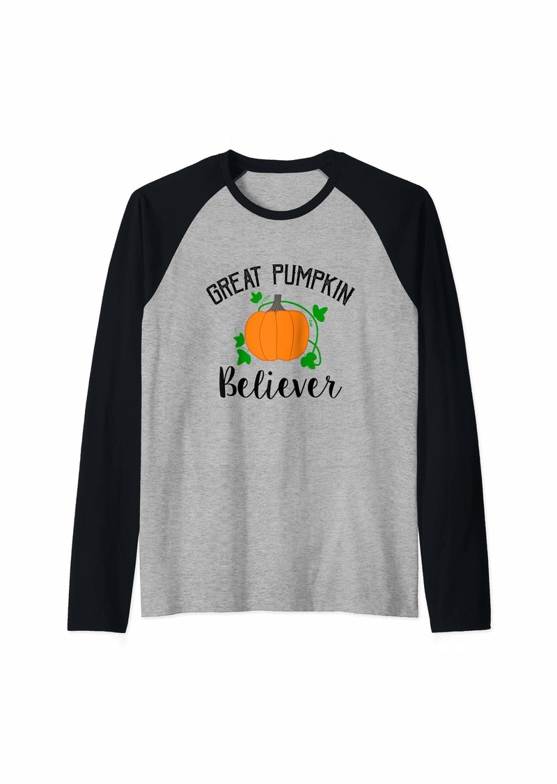 Great Pumpkin Believer - The Great Pumpkin  Raglan Baseball Tee