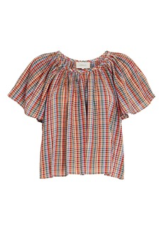 The Great The Dale Plaid Cotton Top