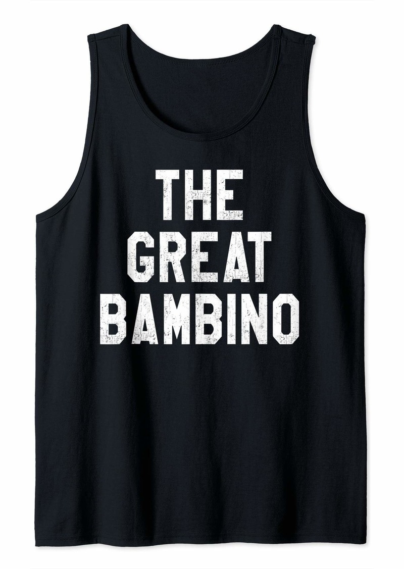 The Great Bambino Baseball Hitter Vintage Distressed Tank Top
