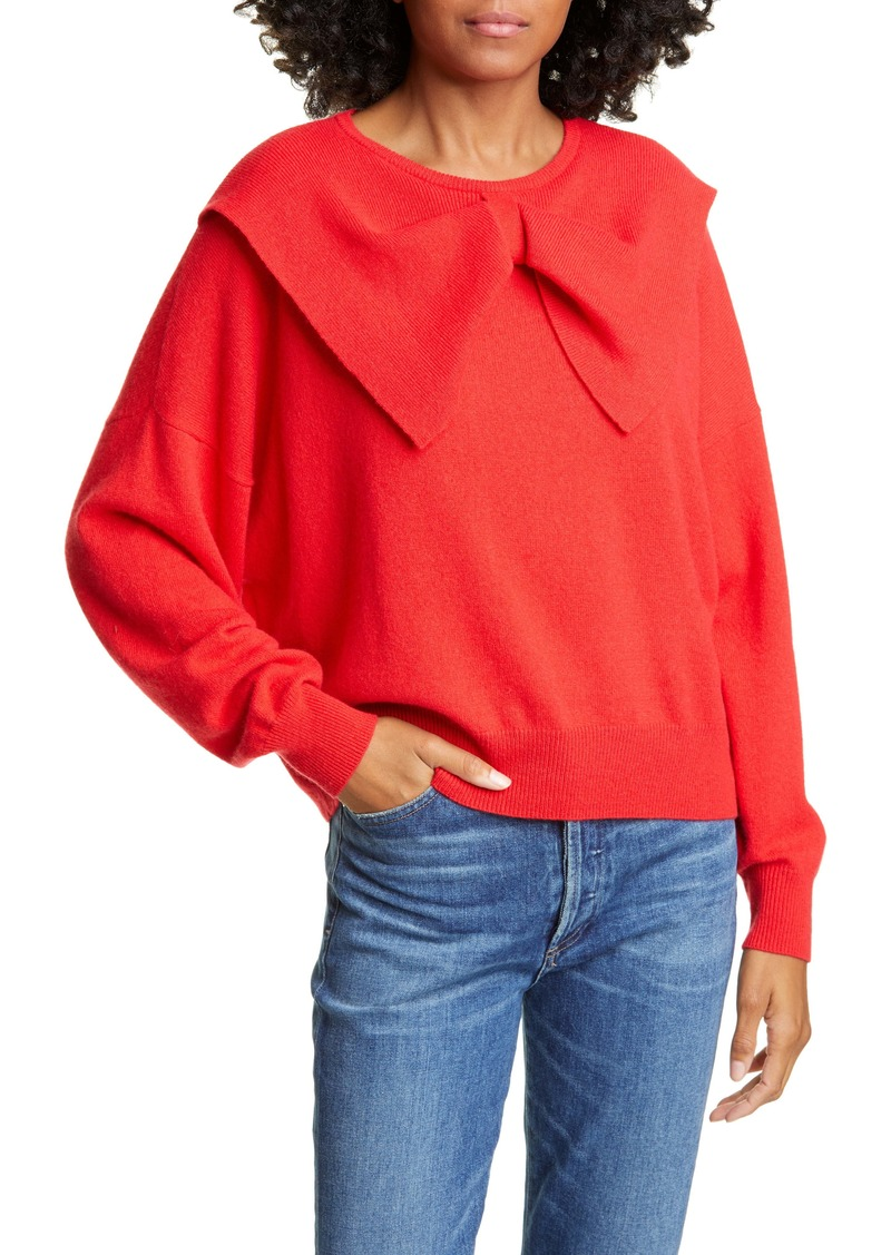 THE GREAT. Bow Neck Cashmere Sweater